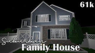 Roblox  Bloxburg Suburban Family House 61k