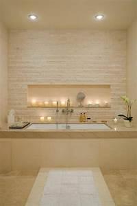 1001 idees comment decorer vos interieurs avec une niche With salle de bain design avec cheminée décorative