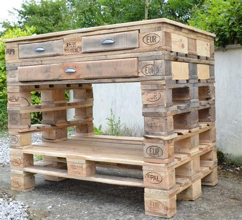 meuble de cuisine exterieur beau ilot central palette et bar exterieur en bois frais