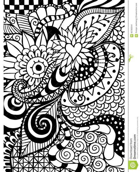 Modèle Pour Livre De Coloriage Ethnique, Floral, Rétro