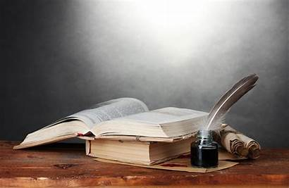Books Pen Feather Wallpapers Background Scrolls Well