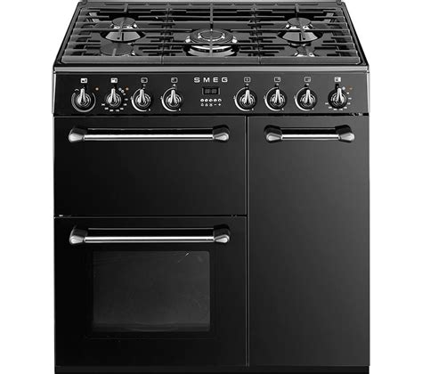 smeg gas range cooker buy smeg bm93bl 90 cm dual fuel range cooker black