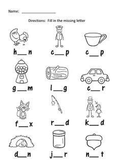 vowel worksheets images teaching reading