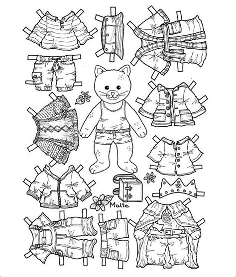 Paper Doll Cutouts Template
