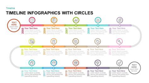timeline infographics  circles powerpoint template