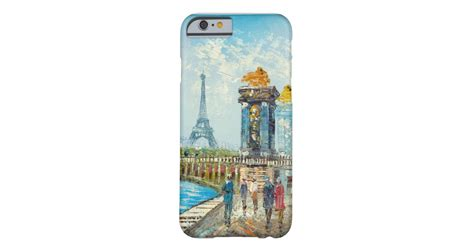 Painting Paris Eiffel Tower Scene Barely There Iphone