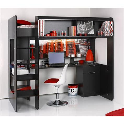 lit mezzanine avec bureau pas cher lit mezzanine une personne pas cher
