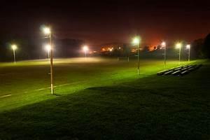 Gratis Billeder   Sommer  Nat  Fodbold  Mark  Stadion  By