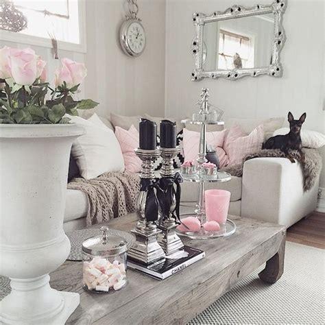 gorgeous white grey  pink interiors