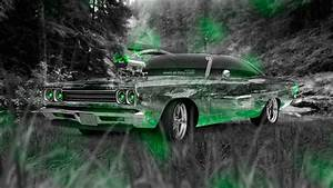Plymouth Road Runner 1969 Tuning Muscle Crystal Nature Car