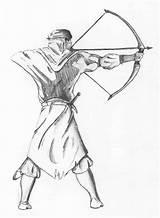 Archer Medieval Drawing Getdrawings Deviantart sketch template