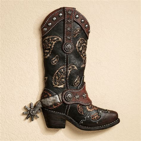 Western Boat by Western Cowboy Boot Wall