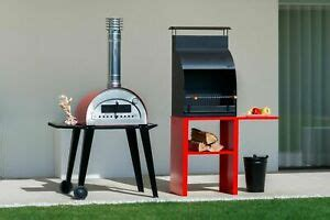 outdoor stainless steel wood fired pizza oven montana evo