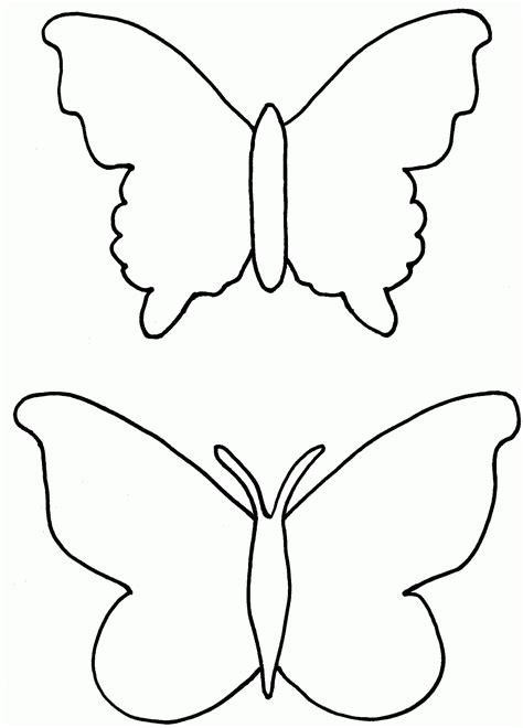 Coloring Templates Printable by Butterfly Outline Coloring Pages Coloring Home