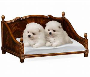 Rectangular four poster mahogany dog bed for Four poster dog bed