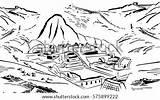 Machu Picchu Peru Wonders Icon Coloring Shutterstock Sketch Clip Template sketch template