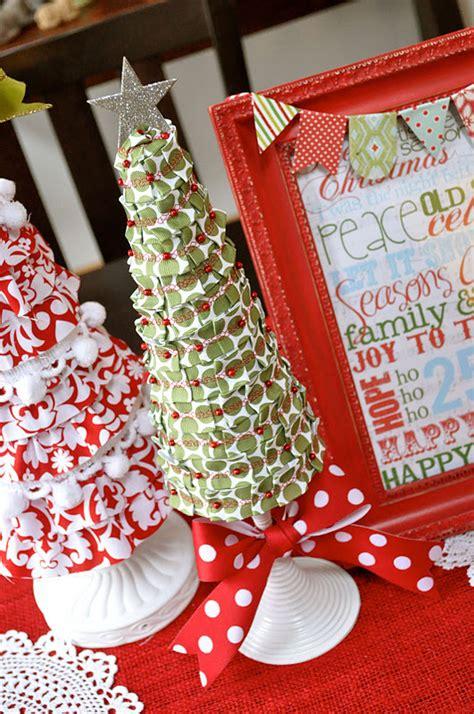 foam christmas tree tutorial ribbon covered little