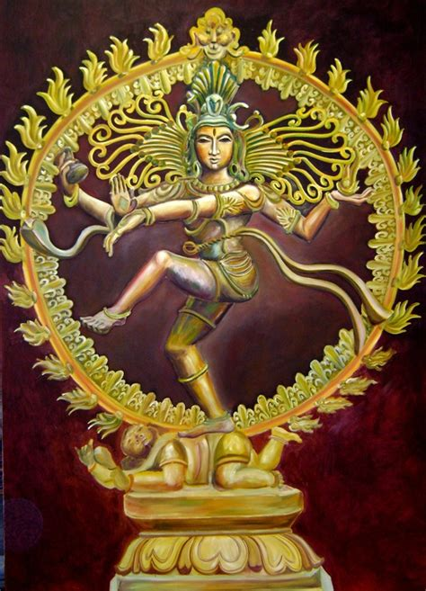 nataraja god indian painting hindu allindiaarts shiva
