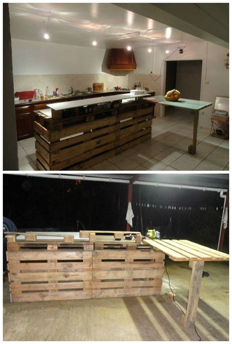 pallet kitchen countertop recycled pallets ideas