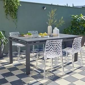 salon de jardin table et chaise mobilier de jardin With tapis de course pas cher avec canape pour veranda