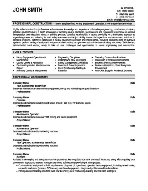 Maintenance Supervisor Cv Resume by Maintenance Supervisor Resume Template Premium Resume
