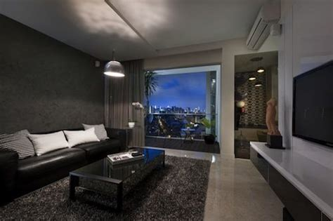 Living Room With Grey Theme Living Dining