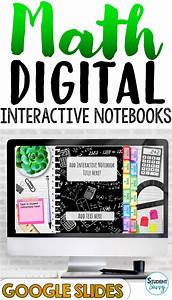 Math Digital Interactive Notebook Templates Editable