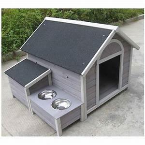 Niche Grand Chien Xxl : lifland niche chien ontario grise en bois extra large 2 ~ Dailycaller-alerts.com Idées de Décoration
