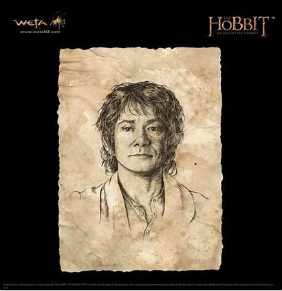 Bilbo Baggins Precious Portrait Weta Hobbit Drawing