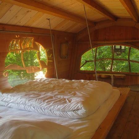 dormir dans une cabane dans les arbres sur un arbre perché