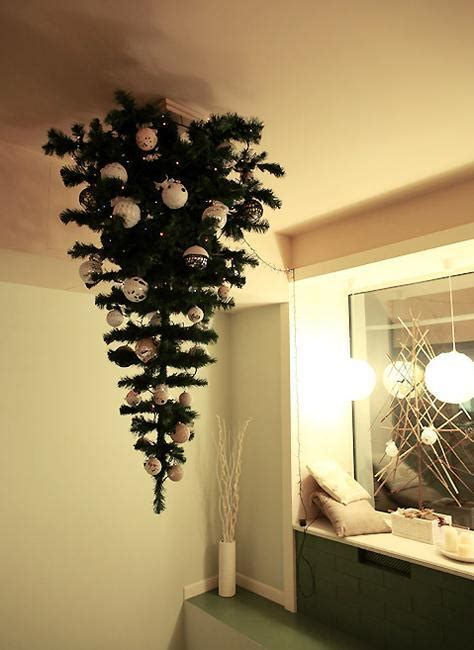 hanging upside down christmas trees reinventing space