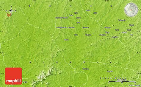 physical map  otukpo