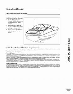 2009 Maxum 2400 Sc3 Sport Boat Owners Manual Guide