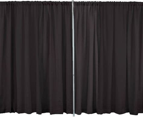pipe drapes 6 foot high x 5 foot wide premium drape curtain for pipe