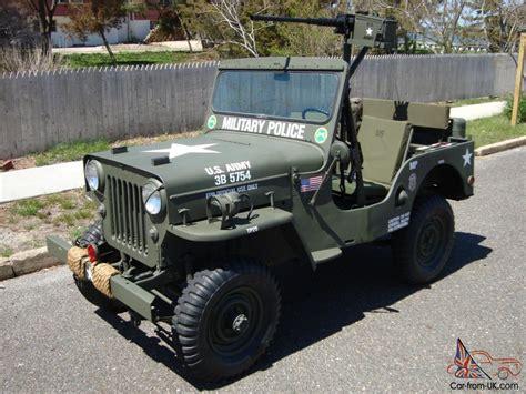 army jeep willys 1960 cj3b army m606 style vietnam military type