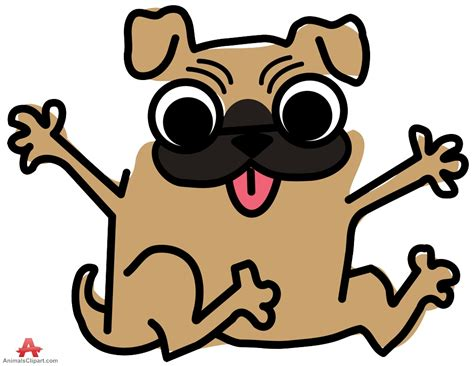 Clip Dogs Pug Clipart Pencil And In Color Pug Clipart