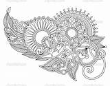 Tattoo Henna Flower Lace Vector Tattoos Paisley Floral Drawing Drawings Line Garter Illustration Simple Depositphotos Draw Flowers Bandana Ornamental sketch template