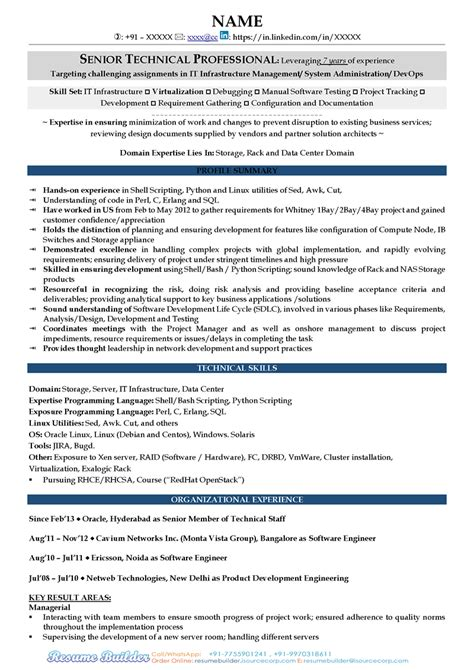 Resume For It by Free Resume Sles Free Cv Template Free Cv