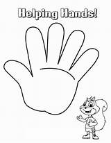 Coloring Hands Helping Drawing Holding Palm Printable Template Handcuffs Sheet Getcolorings Getdrawings Sketch sketch template
