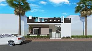 8, Images, Home, Front, Elevation, Design, Simple, Of, India, And, View