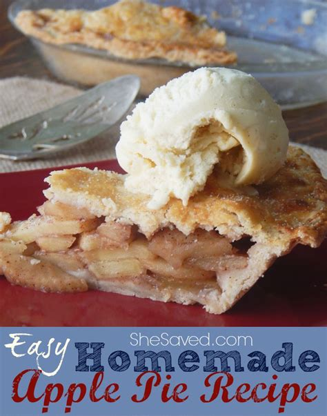 Now, preheat the oven to 375ºf. Easy Homemade Apple Pie Recipe - SheSaved®