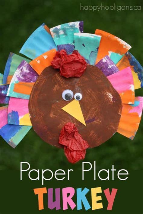 turkey crafts  toddlers  preschoolers happy hooligans