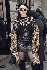 Kristina Bazan Attends The Elie Saab Haute Couture Spring