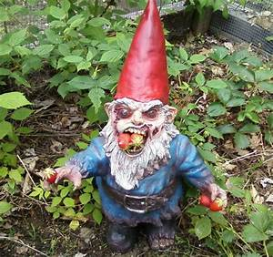 Gnombie - Zombie Garden Gnome - The Green Head