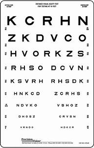 10 Foot Vision Chart Linear Spaced Translucent Sloan Vision Chart Precision