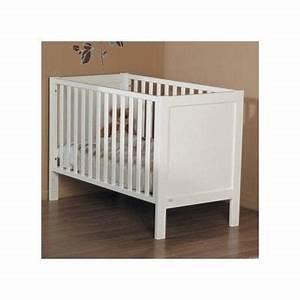 Lit Bebe Blanc : lit bebe barreaux blanc visuel 3 ~ Teatrodelosmanantiales.com Idées de Décoration