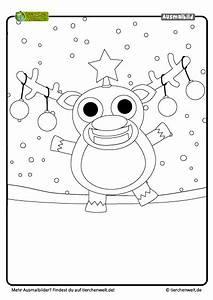 Malvorlage Weihnachten Rentier