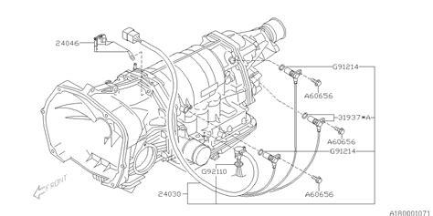 Subaru 2 5xt Engine Diagram by 24030aa200 Genuine Subaru Sensor Harness Assy Tra