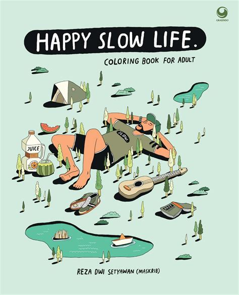 jual happy slow life coloring book penulis reza dwi