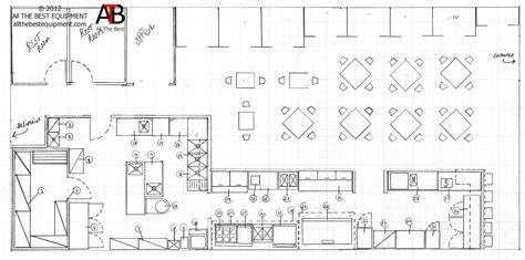 restaurant drawing layout restaurant kitchen layout
